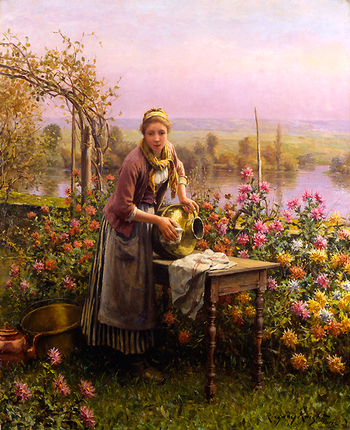 Daniel Ridgway Knight - Polishing the Urn - Полировка сосуда