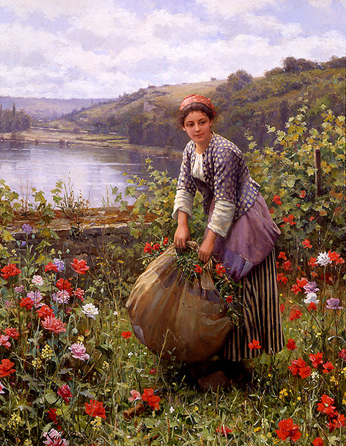 Daniel Ridgway Knight - The Grass Cutter - Сборщица трав
